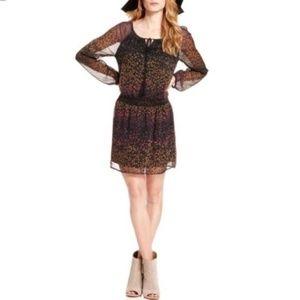 Jessica Simpson Black Floral Laurelle Dress XS